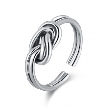 Sterling Silver Infinity Knot Twisted Finger Ring