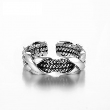 Sterling Silver Double Design Steampunk Ring For Women