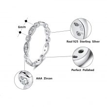 Minimalist 925 Sterling Silver Ring for Women