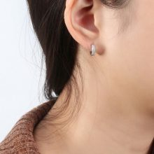 ORSA JEWELS Solid 925 Sterling Silver Hoop Earrings For Women Small Circle  Silver Color Trendy Female Wedding Jewelry SE103