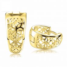 ORSA JEWELS 2019 New Hollow Out Design Fashion Earring Silver Color High Polished Jewelry Earring for Women OE28