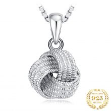 JewelryPalace Vintage Milgrain Love Knot Pendant Necklace Without Chain 925 Sterling Silver Pendant Fashion Jewelry Making