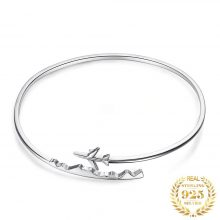 JPalace Airplane Silver bracelet 925 Sterling Silver Bangles Bracelet Bracelets For Women Silver 925 Jewelry Making Organizer