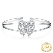 JewelryPalace Butterfly Bracelet 925 Sterling Silver Bracelet Bangles Bracelets For Women Silver 925 Jewelry Making Organizer