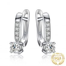 JewelryPalace Cubic Zirconia Hoop Earrings 925 Sterling Silver Earrings for Women Girls Korean Earrings Fashion Jewelry 2020